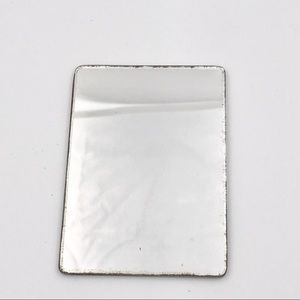 Vintage Double Sided Glass Pocket Makeup Mirror